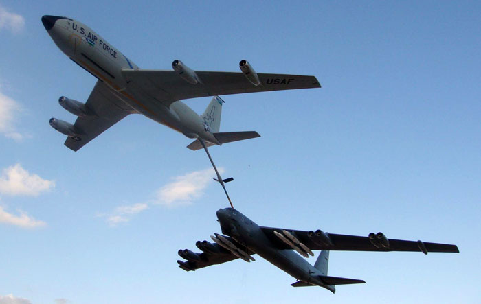the u s air force s grandpaps the b 52 and kc 135 just keep on
